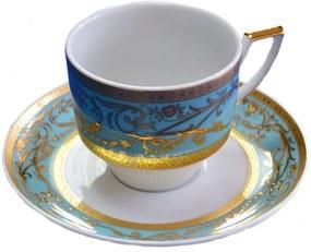 Louise décor Turcoaz -set Cafea / Ceai portelan 165 ml 12 piese ()