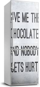 Autocolant pe frigider Ciocolata da