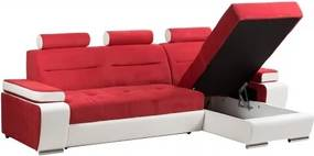 Coltar extensibil, modular cu lada depozitare Ares Red