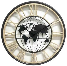 Ceas perete harta lumii 70 cm