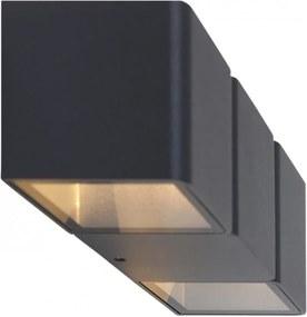 Aplica LED Outdoor Collection VI aluminiu, 2 becuri, negru, 230 V, 2700 K