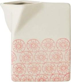 Recipient din ceramică pentru lapte Bloomingville Cecile, roz - alb