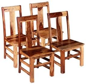 274763 vidaXL Scaune de bucătărie 4 buc, lemn masiv de sheesham