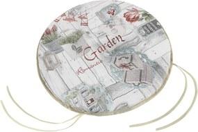 Pernă rotundă netedă Bellatex Ema Terasa, 40 cm
