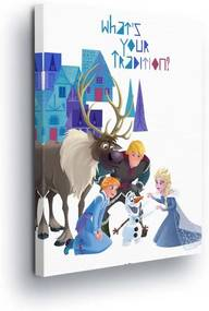 GLIX Tablou - Disney Frozen Figurines II 25x35 cm