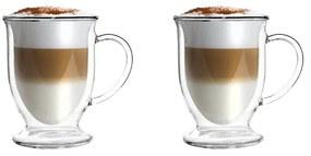 Set 2 căni din sticlă dublă pentru latte Vialli Design, 250 ml