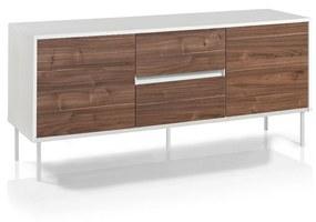 Comoda TV MAINZ, Melamina, Alb Maro, 160x50x72 cm