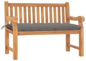 3062971 vidaXL Bancă de grădină cu pernă, 120 cm, lemn masiv tec