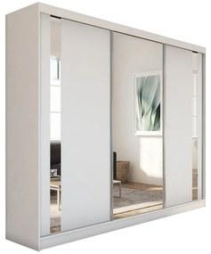 Expedo Dulap cu uși glisante si oglindă GAJA, 240x216x61, alb