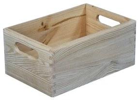 Cutie depozitare din lemn, 30x20x14 cm