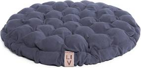 Pernă relaxare cu bile de masaj Linda Vrňáková Bloom, Ø 65 cm, albastru - gri