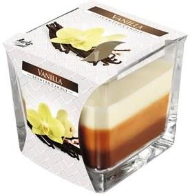 Lumanare parfumata in trei culori, vanilie
