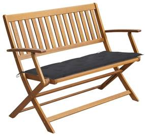 3064254 vidaXL Bancă de grădină cu pernă, 120 cm, lemn masiv de acacia