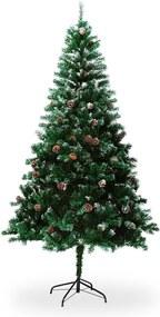 Brad artificial de Crăciun, cu conuri, înălțime 1,8 m
