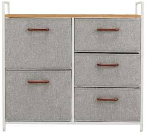 Comoda cu sertare din material textil artar rosu/alb/gri deschis TESSA TYP 2