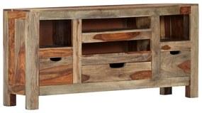 247751 vidaXL Servantă, gri, 100x30x50 cm, lemn masiv de sheesham