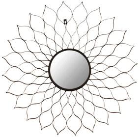 Oglinda decorativa Ø 80cm Pattern Black
