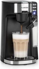 Klarstein Baristomat, 2-în-1 complet automat, spumant de lapte de cafea și ceai, 6 programe