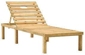 315396 vidaXL Șezlong de grădină, lemn de pin tratat