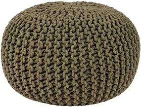 Pouf tricotat LABEL51 Knitted, Ø 50 cm, khaki
