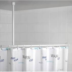 Suport tavan pentru perdea duș Wenko, alb