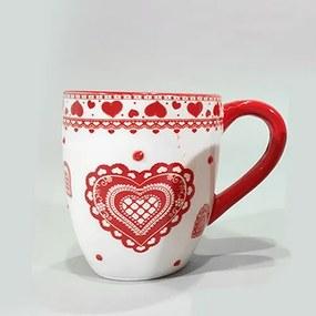 Cana Heart din ceramica alba 10 cm