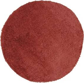 Covor Nobel rotund rosu inchis Ø 67 cm