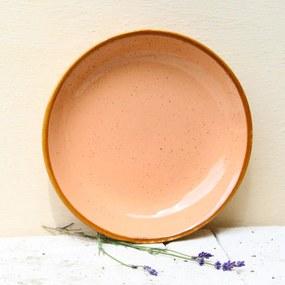 Farfurie adanca Gardena din ceramica corai 23 cm