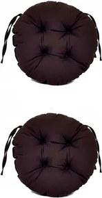 Set Perne decorative rotunde, pentru scaun de bucatarie sau terasa, diametrul 35cm, culoare negru, 2 buc/set