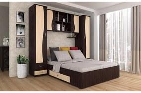 Dormitor Tineret, WENGE+MESTEACAN 227x51/205x200cm