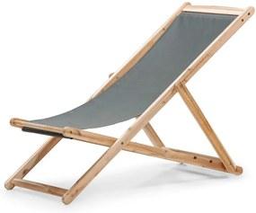 Scaun de grădină pliabil din lemn de acacia Le Bonom Deck, gri