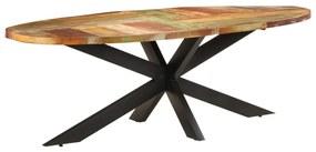 321679 vidaXL Masă de bucătărie, 240x100x75 cm, lemn masiv reciclat