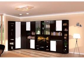 Biblioteca Iris Wenge/Vanilie varianta pe colt
