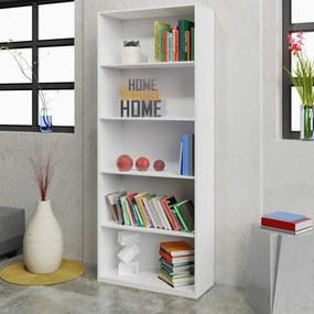 Biblioteca alba 60x24x180 cm, PAL