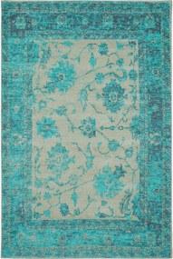 Covor Vintage Frencie Flora Turcoaz - 160x235 cm