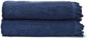 Set 2 prosoape de baie din bumbac Casa Di Bassi Bath, 100x160 cm, albastre