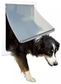 408432 TRIXIE Ușă bidirecțională pentru câine, M-XL, 39 x 45 cm, alb 3879