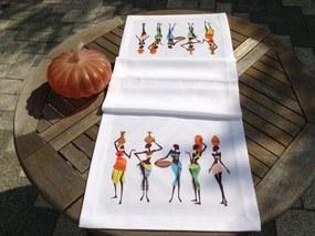 Napron African Dancers 45 x 140 cm