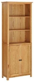 289179 vidaXL Bibliotecă cu 2 uși, 70 x 30 x 180 cm, lemn masiv stejar