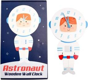 Ceas de perete din lemn pentru copii Rex London Astronaut