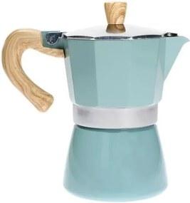 Cafetieră Mocca Brandani Tiffany, albastru, pentru 3 cești