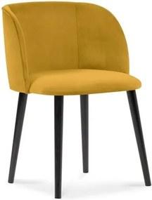 Scaun cu tapițerie de catifea Windsor & Co Sofas Aurora, galben