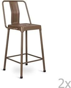 Set 2 scaune bar Design Twist Magoye, maro