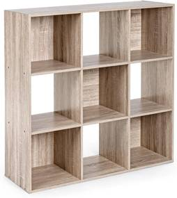 Biblioteca mdf natur 9 rafturi Mila 91.2 cm x 29.7 cm x 91.2 h