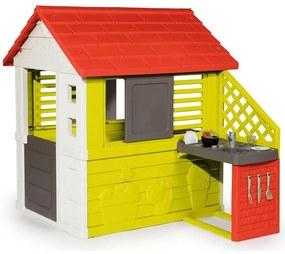 Smoby - Casuta cu bucatarie pentru copii Nature
