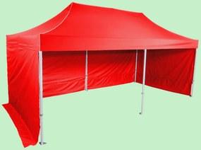 Pavilion de grădină 3x6m - Profesional din aluminiu hexagonal, Roșu