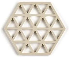 Suport din silicon pentru vase fierbinți Zone Triangles, bej