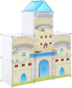 [neu.haus]® Dulap copii - dulap depozitare model castel albastru - DIY sistem asamblare raft