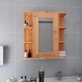 323603 vidaXL Dulap de baie cu oglindă, stejar, 66 x 17 x 63 cm, MDF