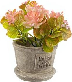 Flori artificiale roz in ghiveci Maison Ø8x15h